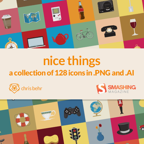Freebie: Nice Things Icon Set (128 Icons, PNG + AI Source)   Smashing Magazine